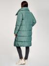 Пальто утепленное с воротником-стойкой oodji #SECTION_NAME# (зеленый), 10203077/45934/6C00N - вид 3