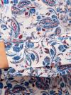 Блузка принтованная из вискозы oodji #SECTION_NAME# (синий), 11411098-1/24681/1275E - вид 5
