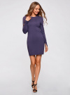 Платье вязаное базовое oodji для женщины (синий), 73912217-2B/33506/7900N - вид 2