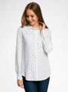 Блузка с нагрудными карманами и регулировкой длины рукава oodji #SECTION_NAME# (белый), 11400355-3B/14897/1029Q - вид 2