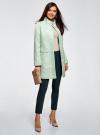 Пальто прямого силуэта из фактурной ткани oodji #SECTION_NAME# (бирюзовый), 10104043/43312/6500N - вид 6