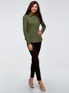 Рубашка приталенная с нагрудными карманами oodji #SECTION_NAME# (зеленый), 13L12001B/43609/6800N - вид 6