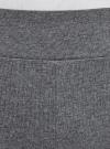 Легинсы хлопковые с лампасами oodji #SECTION_NAME# (серый), 18700058/47618/2510Z - вид 4