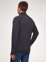 Джемпер из фактурной ткани с шалевым воротником oodji #SECTION_NAME# (синий), 5L114034M/49015N/7900N - вид 3