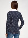Блузка хлопковая с нагрудным карманом oodji #SECTION_NAME# (синий), 13K03017/26357/7910O - вид 3