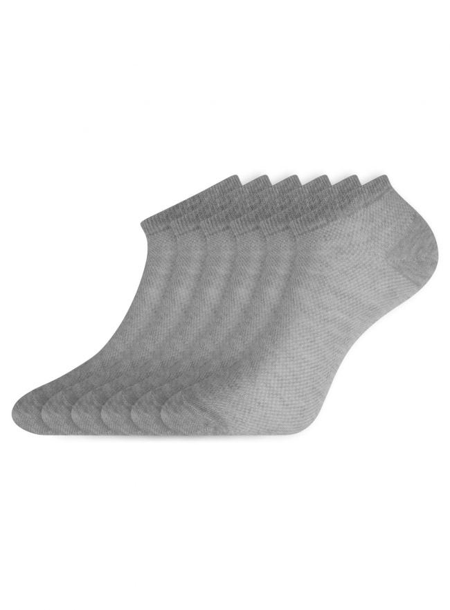 Комплект укороченных носков (6 пар) oodji для женщины (серый), 57102604T6/48022/3