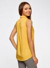Топ вискозный с нагрудным карманом oodji для женщины (желтый), 11411108B/26346/5200N - вид 3