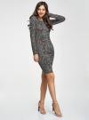 Платье трикотажное с этническим принтом oodji для женщины (синий), 24001070-4/15640/2537E - вид 6