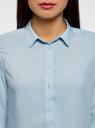 Блузка базовая из вискозы oodji #SECTION_NAME# (синий), 11411136B/26346/7001N - вид 4