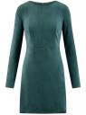 Платье из искусственной замши с длинными рукавами oodji для женщины (зеленый), 18L02001/45870/6900N