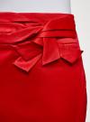 Юбка прямая с декоративным бантом на поясе oodji #SECTION_NAME# (красный), 21601302/32700/4500N - вид 5