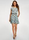 Платье вискозное без рукавов oodji #SECTION_NAME# (бирюзовый), 11910073B/26346/6541F - вид 2