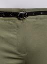 Брюки-чиносы с ремнем oodji для женщины (зеленый), 11706190-3B/32887/6800N