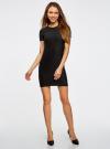 Платье трикотажное с коротким рукавом oodji для женщины (черный), 14011007/45262/2900N - вид 2