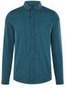 Рубашка extra slim в мелкую клетку oodji для мужчины (синий), 3B140003M/39767N/7962C
