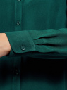 Блузка базовая из вискозы oodji #SECTION_NAME# (зеленый), 11411136B/26346/6E02N - вид 5