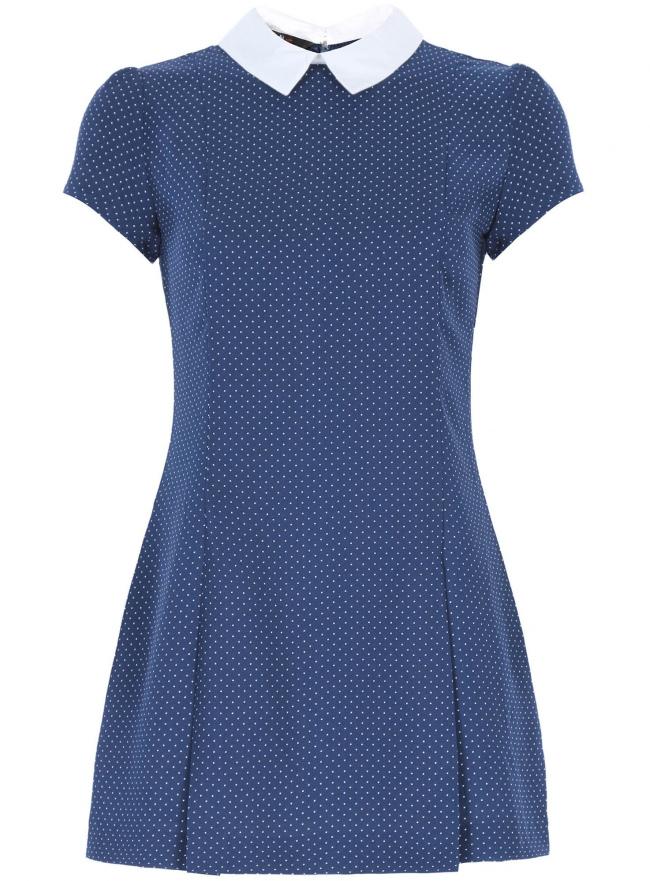Платье oodji для женщины (синий), 11902153/45079/7512D