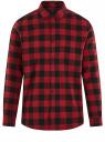 Рубашка хлопковая с длинным рукавом oodji #SECTION_NAME# (красный), 3L320016M/39882N/4529C