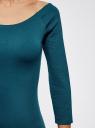 Платье облегающее с вырезом-лодочкой oodji #SECTION_NAME# (зеленый), 14017001-5B/46944/6C00N - вид 5