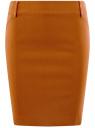 Юбка-карандаш длиной до колена  oodji #SECTION_NAME# (коричневый), 11610003/14007/3100N