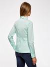Блузка базовая с баской oodji #SECTION_NAME# (зеленый), 11400444B/42083/6501N - вид 3
