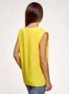 Блузка вискозная с нагрудными карманами oodji #SECTION_NAME# (желтый), 21412132-6B/48756/5100N - вид 3