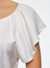 Блузка из вискозы с рукавами-крылышками oodji #SECTION_NAME# (белый), 11411106/45542/1200N - вид 5