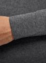 Футболка с длинным рукавом хлопковая oodji #SECTION_NAME# (серый), 5B512004M/46737N/2500M - вид 5
