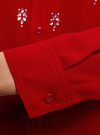Блузка из струящейся ткани с украшением из страз oodji #SECTION_NAME# (красный), 11411128/36215/4500N - вид 5