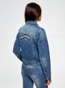 Куртка джинсовая со значками oodji #SECTION_NAME# (синий), 11109031/46654/7500W - вид 3