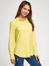 Блузка с нагрудными карманами и регулировкой длины рукава oodji #SECTION_NAME# (желтый), 11400355-3B/14897/6700N - вид 2