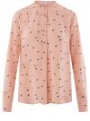 Блузка вискозная А-образного силуэта oodji #SECTION_NAME# (розовый), 21411113-1B/48458/5429O