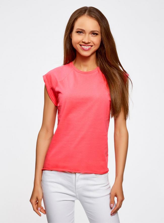 Комплект из двух хлопковых футболок oodji для женщины (разноцветный), 14707001T2/46154/11