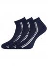 Комплект из трех пар носков oodji #SECTION_NAME# (синий), 57102708T3/48300/2 - вид 2