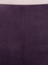 Брюки зауженные с молнией на боку oodji #SECTION_NAME# (фиолетовый), 21700199-2B/31291/8801N - вид 5