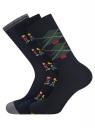 Комплект из трех пар носков oodji #SECTION_NAME# (синий), 7O233003T3/47469/7919J - вид 2