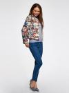 Куртка стеганая с круглым вырезом oodji для женщины (разноцветный), 10203072B/42257/3070F - вид 6