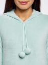 Платье домашнее с капюшоном oodji для женщины (бирюзовый), 59801004-2/38319/7000N
