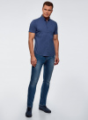 Рубашка базовая с коротким рукавом oodji для мужчины (синий), 3B240000M/34146N/7500N - вид 6