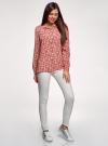 Блузка вискозная с нагрудными карманами oodji #SECTION_NAME# (розовый), 11411127-1B/42807/4312E - вид 6