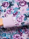 Свитшот принтованный с круглым вырезом oodji #SECTION_NAME# (фиолетовый), 14807021-1/46919/8083F - вид 5