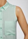 Топ вискозный с рубашечным воротником oodji #SECTION_NAME# (зеленый), 14911009B/26346/6500N - вид 5