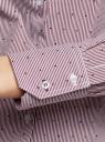 Блузка приталенная в горошек oodji #SECTION_NAME# (фиолетовый), 11403227/46079/1049G - вид 5