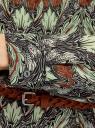 Туника принтованная из вискозы с ремнем oodji #SECTION_NAME# (зеленый), 21412057-4/24681/2960E - вид 5