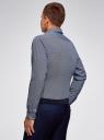 Рубашка приталенная с графичным принтом oodji #SECTION_NAME# (синий), 3L110340M/19370N/7910G - вид 3