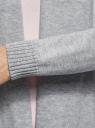 Кардиган удлиненный без застежки oodji #SECTION_NAME# (серый), 73212385-1B/43755/2300M - вид 5