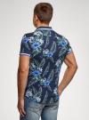 Рубашка принтованная с коротким рукавом oodji #SECTION_NAME# (синий), 5L301004M/46547N/7910F - вид 3