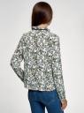 Блузка с декоративными завязками и оборками на воротнике oodji #SECTION_NAME# (слоновая кость), 11411091-2/36215/1219F - вид 3