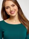 Платье трикотажное базовое oodji #SECTION_NAME# (зеленый), 14001071-2B/46148/6E00N - вид 4