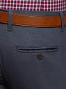 Брюки-чиносы облегающие oodji для мужчины (синий), 2L150152M/48637N/7975O